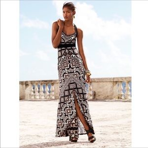 White House Black Market Tile Print Maxi Dress XS
